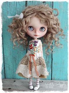 Lovely Lilith. Custom Blythe doll by Marina, Petite Apple.