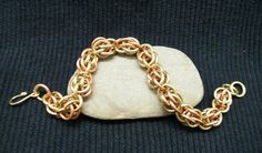 Copper And Brass Bracelet Chainmaille Jewelry by FirebeardDesigns