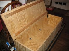 how to build a toy box out of plywood