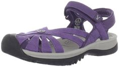 "KEEN Women's Rose Sandal Keen. $84.95. Heel measures approximately 1.25""; Leather/Manmade; Rubber sole; Adjustable hook-and-loop strap; Platform measures approximately 1"""