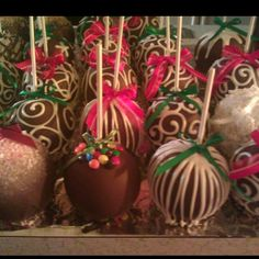 some chocolate covered apples my family makes! :)