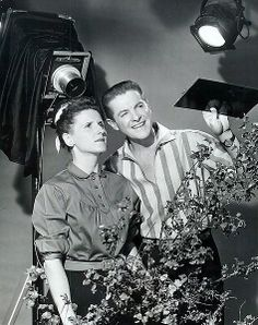 Bob Cummings and Ann B. Davis from the television program The Bob Cummings Show.