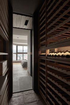 Ridge is a minimal interior design located in Taipei, Taiwan, designed by Wei Yi International Design Associates. Wine Cellar Modern, Spiral Wine Cellar, Wine Cellar Design, Cabernet Sauvignon, Sauvignon Blanc, Chenin Blanc, Wine Cellar Basement, Home Wine Cellars, Pinot Noir