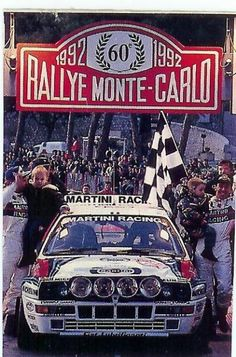 1992 MONTE CARLO RALLY - Lancia Delta HF Integrale. Entrant: Martini Racing. Drivers: Didier Auriol / Bernard Occelli. Place: 1st o/a.