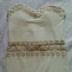 NWOT White Padded Strapless Dress Must wear nude underwear with this dress !   Bundle for a deal. :) Dresses Strapless