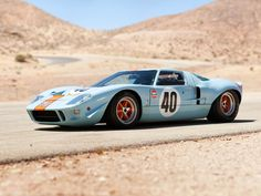 photos of ford gt40 race cars | 1968 Gulf Ford GT40 Le-Mans Racing Car Race Classic 4000x3000 ...