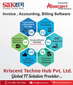 This image tells a ready accounting & Billing software known as Saksham