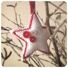 Star / Hanging Star / Home accessory / Stitched by TheCraftHutch Christmas Present Decoration, Christmas Decorations, Christmas Ornaments, Holiday Decor, Christmas Colour Schemes, Christmas Colors, Christmas Star, Christmas Presents, Star Decorations