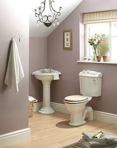 really like the color of this bathroom, so calming