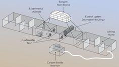 underwater aquarium - an artificial chemical microclimate 850 below the ocean surface