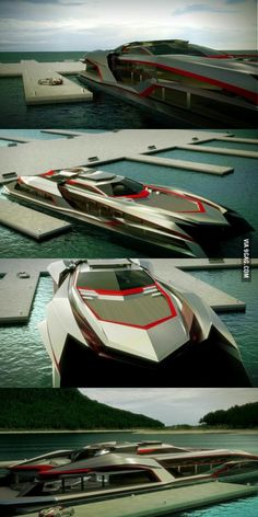 Meet the monster beauty of a yacht : KRAKEN. Fast Boats, Cool Boats, Speed Boats, Power Boats, Yacht Design, Boat Design, Expensive Yachts, Future Transportation, Float Your Boat