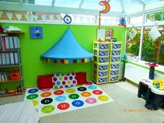 Childminder room set up