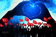 Türk Bayrağı & Kutlama - Türk Bayrağı ve Kutlama Tasarım Çalışması (photo + manipulation + illustrator + painting)