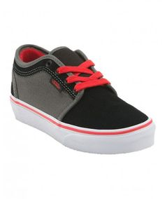 Vans Boys Chukka Low Shoe (Black/Charcoal) - BOYS