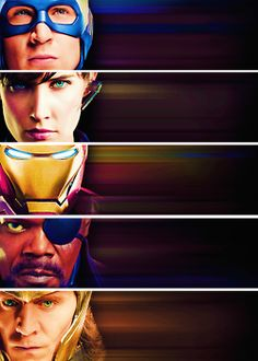 my edits cobie smulders robert downey jr iron man tom hiddleston The Avengers Captain America Chris Evans Chris Hemsworth Steve Rogers Thor ...