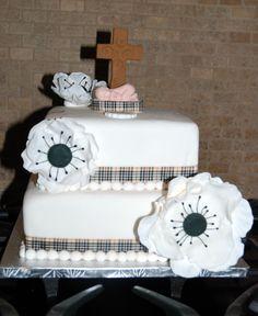 baptismal cake... burberry theme www.mangoeventstylists.com