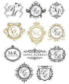 Ah, the monograms … They are beautiful and they are the hallmark of the event … whatever it is. In my humble opinion, the monograms are important for … – 2019 - FASHION Wedding Logo Design, Wedding Logos, Monogram Wedding, Wedding Stationary, Wedding Invitation Cards, Wedding Designs, Wedding Cards, Monogram Design, Monogram Logo