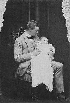 Prince Henry of Prussia with his son Prince Sigismund c1896