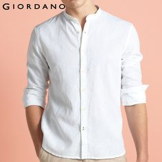 Giordano Men Long Sleeves Mandarin Collar Casual Shirt     Tag a friend who would love this!     FREE Shipping Worldwide | Brunei's largest e-commerce site.    Buy one here---> https://mybruneistore.com/giordano-men-shirt-chemise-homme-linen-shirts-men-long-sleeves-blouse-mandarin-collar-tops-brand-clothing-casual-shirt/