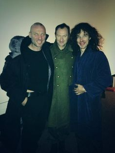 Tomi May's picture with Mark Gatiss and Benedict Cumberbatch after their scene in The Empty Hearse