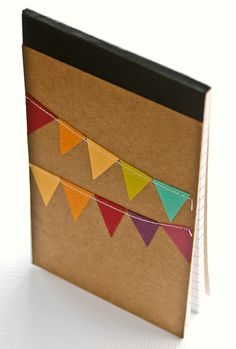 Journal Stocking Stuffer Notebook with Bunting Flag