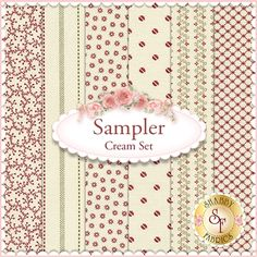 Sampler 6 FQ Set - Cream Set by Julie Hendricksen for Windham Fabrics: Sampler is a collection by Julie Hendricksen for Windham Fabrics. 100% cotton. This set contains 6 fat quarters, each measuring approximately 18