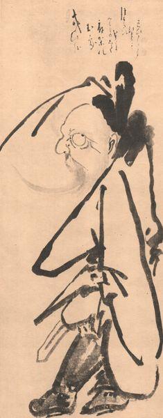 白隠(HAKUIN) photo 鐘道 Zen Painting, Character, Lettering