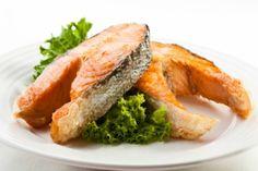 Salmon Steak - Preparation and Ingredients ~ Yummy, salmon and veggies