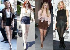 ways to wear high waisted pants   http://creativefashionglee.com/how-celebrities-wear-high-waisted-shorts/