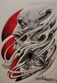 Elvin Tattoo wow i love this Evil Skull Tattoo, Skull Tattoo Design, Skull Tattoos, Body Art Tattoos, Sleeve Tattoos, Tattoo Designs, 4 Tattoo, Dark Tattoo, Tattoo Sketches