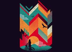Check out the design Bike Ride by John Fishback on Threadless