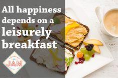 All happiness depends on a leisurely breakfast. #Brunch #Breakfast #Restaurants #SundayBrunch #BestBreakfast #BedAndBreakfast #NewRestaurant #Edmond