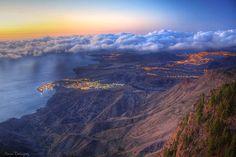 Vista de Agaete, Gran Canaria, Islas Canarias.