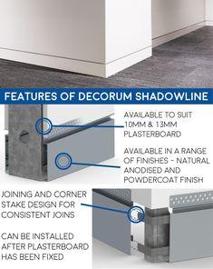 Shadowline Skirting - Decorum Skirting - Aluminium Skirting & Geometrics - Products