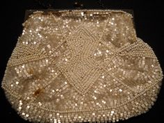 Vintage French WhiteCream Beaded Purse by TheRefinedTable on Etsy, $45.00