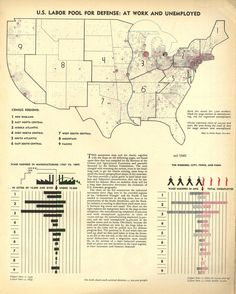 U.S. Labor Pool for Defense, 1940.More maps from the series published by Fortune Magazine >>