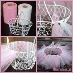 tulle basket