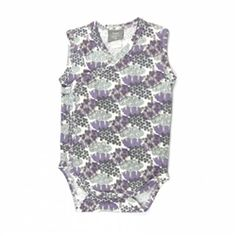 Cute new Field print for 2016 Organic Sleeveless Infant Kimono bodysuit features side and bottom snaps and a kimono wrap style. Made from the softest 100% organic cotton.  Designed in Seattle by Kate Quinn Organics, organically produced cotton certified by Control Union Certifications (formerly SKAL), a USDA Accredited Certifying Agent. These garments are also made using Fair Trade practices