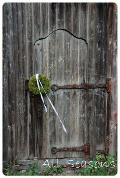 Gate with Moss Wreath