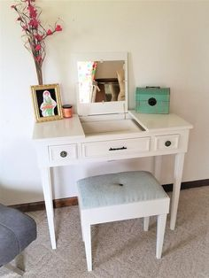 Rent For Chairs And Tables Parties Refferal: 1233655843 Makeup Table Vanity, Makeup Tables, Home Office, Office Desk, Dressing Table, Trending Outfits, Room, High Chairs, Etsy Shop