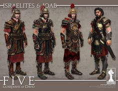 Character concepts for Five: Guardians of David by Manuel Gomez. ArtStation