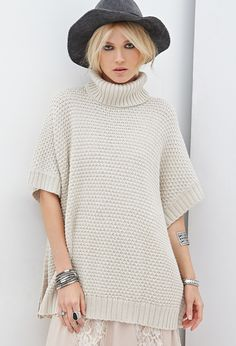 Turtleneck Poncho Sweater | FOREVER21 - 2000138282