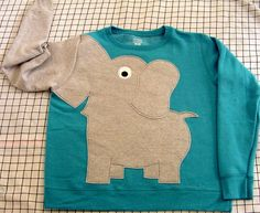 Elephant Trunk sleeve sweatshirt sweater jumper LADIES M or L Peacock Blue crewneck Elephant Sweater, Elephant Shirt, Elephant Trunk, Animal Sweater, Elephant Walk, Looks Style, My Style, Baby Kind, Stylish Men