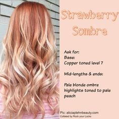 Strawberry sombre hair