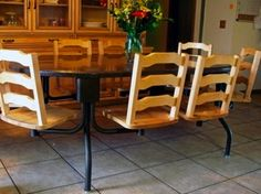 octagon 8 chair kitchen table arrow ow back oak bar stools with black finish. beautiful ideas. Home Design Ideas