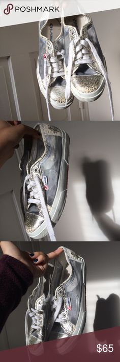 Mesh and metallic cracked superga sneakers Stunning silver metallic cracked leather supergas featuring mesh detail. In good condition, worn pretty lightly. Size 39 women's so size 9 US. Super pretty sneakers that you need!!! Doesn't come with box Superga Shoes Sneakers