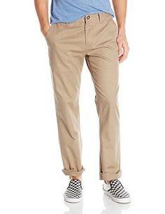 Volcom Men's Frickin Modern Fit Stretch Chino Pant, Khaki 2016, 28