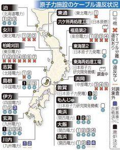 新基準違反、全国20カ所=原子力施設のケーブル不備:時事ドットコム