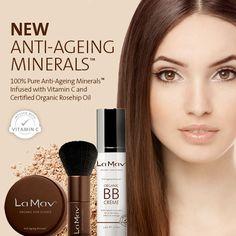 Aussie-based La Mav Organic Skin Care has released a new range of Organic Anti-Aging Mineral Makeups™!