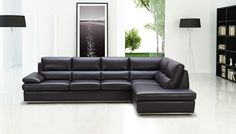 Types of Couches and Sofas Black Leather Sectional SofaBlack Leather Sectional Sofa Leather Couch Sectional, Sectional Sofa With Recliner, Sofa Couch, Couch Set, Living Room Sectional, Black Sectional, Black Sofa, Leather Sofa Sale, Genuine Leather Sofa